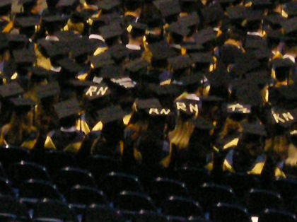 Wilkes RN grads stick out from the crowd.